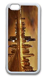 MEIMEIMOKSHOP Adorable Chicago Skyline Soft Case Protective Shell Cell Phone Cover For Apple Iphone 6 Plus (5.5 Inch) - TPU WhiteMEIMEI