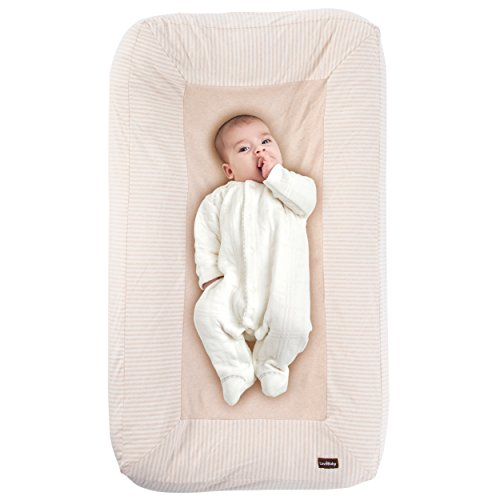 Premium Baby Lounger Cushion with 100% Un-Dyed Organic Cotton Cover - Co Sleeper for Newborn to 8 Months - Independently CPSIA Certified