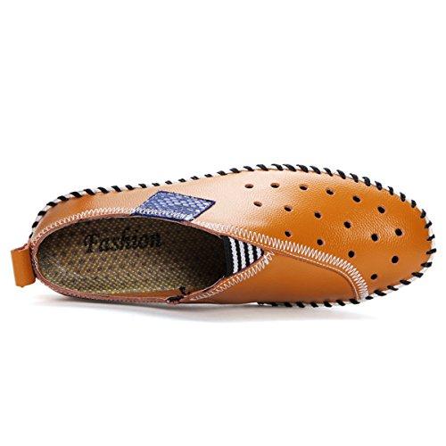 Miyoopark - Mocasines de Piel para hombre marrón
