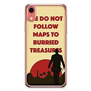 Loud Universe Maps iPhone XR Case Art Movie from Indiana Jones iPhone XR Cover with Transparent Edges