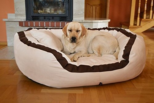 Petitude Reversable Dual(Brown-Cream) Color Ultra Soft Ethenic Designer Velvet Bed for Dog & Cat(Export Quality)-XXL (B07289LKFS) Amazon Price History, Amazon Price Tracker