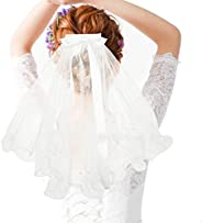 Child Veil, 1 pcs White Wedding Veil Used As Wedding Hair Accessory with Comb