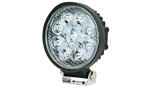 "IPCW W2001-60 Crystal Eyes 4"" Round 27W 9-LED Work Light (6500K. 60-Degree Flood Light)"