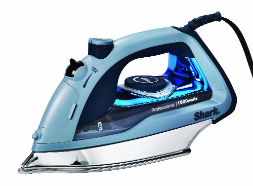 Shark Professional, Garment Steamer with Auto-Shut Off and Stainless Steel Soleplate, 1600 Watts Electric Steam Iron (GI405), Blue