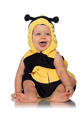 Leg Avenue Anne Geddes Bumble Bee Baby Padded Body Suit with Zipper Closure, Black/Yellow, 18M-24M]()