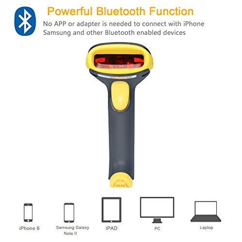 TaoHorse 2-in-1 USB Bluetooth Barcode Scanner Wireless