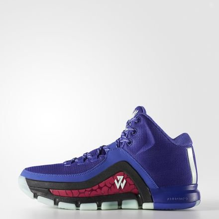 adidas J Wall 2 Mens Hi Top Basketball Trainers Sneakers Shoes (US 7, Purple Black Green S85574)