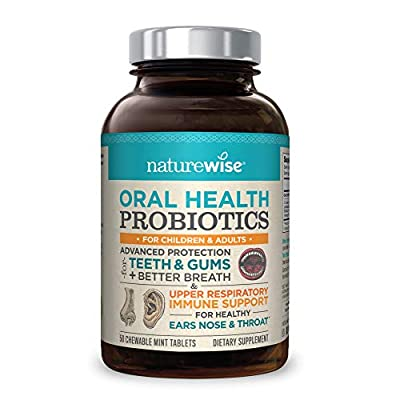 NatureWise Oral Health Chewable Probiotics: Clinically Proven Protection for Teeth & Gums