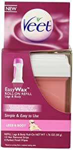 Veet Easy Wax Leg and Body Hair Remover Wax Refill, 1.76 oz.