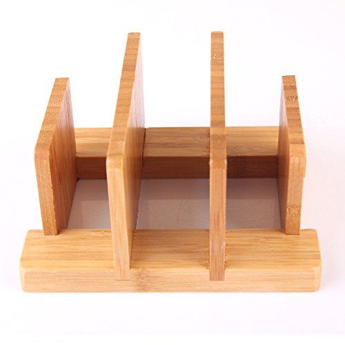 Natural Bamboo Cutting Board Rack,Cuteadoy Kitchen Houseware Organizer Pantry Rack Skid Resistance for Cutting Board / Dish / Plate / Pot Lid / Book (Bamboo)