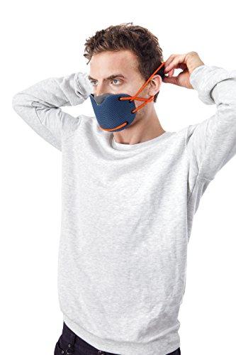 BANALE MKC106 Masque Anti Pollution Mixte Adulte, Noir Vert/Gris