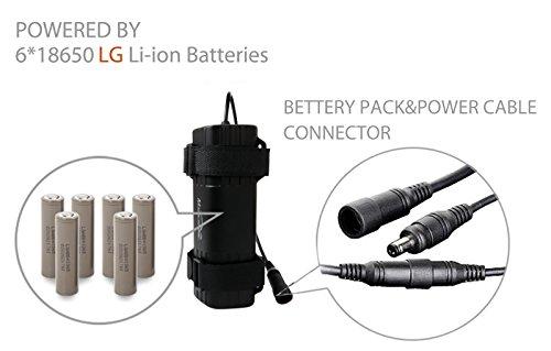 Magicshine Bike Light Battery, MJ-6102 high Capacity 6 Cell Li-ion Rechargeable Battery for Bike. 7800mah Waterproof Battery for Mountain Bike Lights | Round Plug by Magicshine (Image #2)