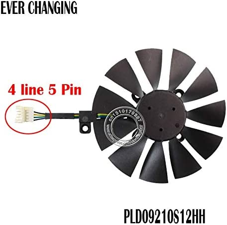 Fans & Cooling - 87MM Cooler Fan For STRIX GTX 960 970 1050 1070 RX 580 GTX980ti R9 390X 390 Graphics Card Cooling Fan (4 Line 5 Pin)