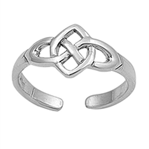 Celtic Knot .925 Sterling Silver Toe Ring