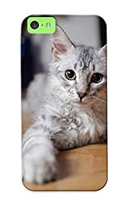 Crazinesswith Iphone 5c Hybrid Tpu Case Cover Silicon Bumper Cat