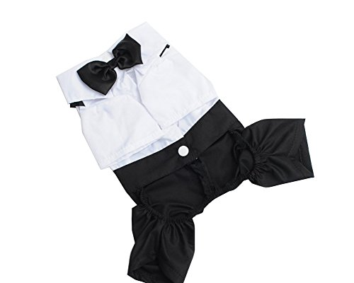 S-Lifeeling Fashion Bowknot Teddy Dog Clothes Spring Summer Pet Costumes Gentleman Comfortable Design Pet Suit for $<!--$9.99-->