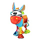 OASMU Baby Toys, Pram Toys, 0-3 Month Infant Stroller Toys Washable Squeaker Car Toys, Kids Hanging Toy for Crib with Teethers (Donkey)