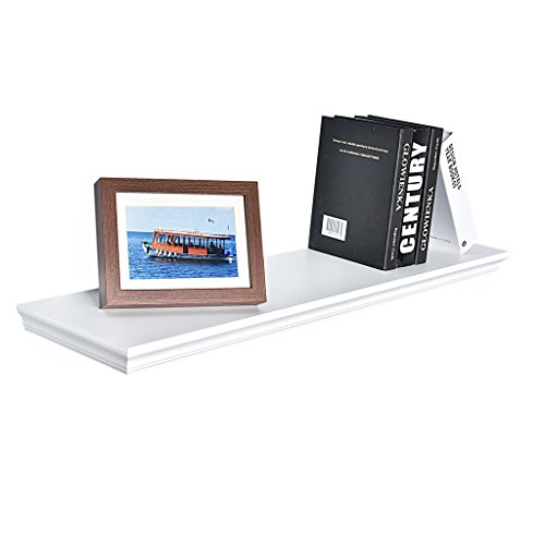 WELLAND Dover Floating Ledge Wall Shelves, 36-Inch, White