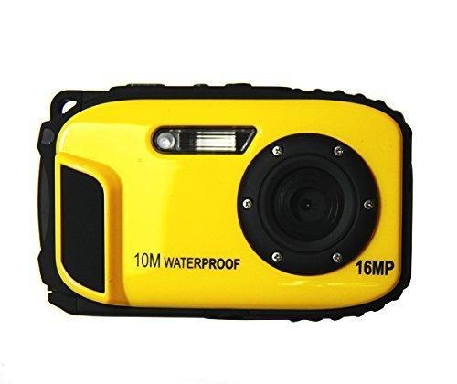 "ETTG BP88 Camera Waterproof Digital Video Camera 2.7"" TFT Screen 5mp Underwater 9 Mega 8X Zoom Digital Camera - Yellow"