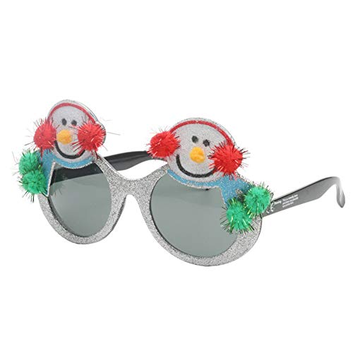 Christmas Snowman Sunglasses – Fun Glasses, Party Favors, Novelty Shades, Party Toys, Funny Costume Accessories Kids & Adults ()