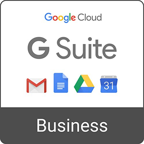 Software : G Suite Business | Monthly Subscription with Auto-renewal | includes Business Gmail, unlimited Drive storage, Docs, Calendar, and more