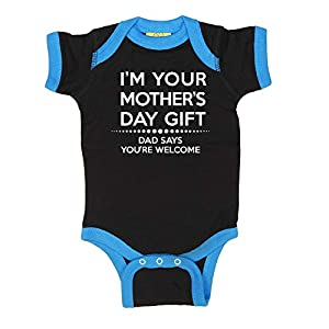 LOL Baby! Happy Mother's Day Dad Says You're Welcome Baby Bodysuit & Kids T-Shirts