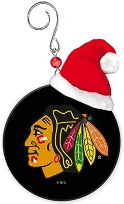 chicago blackhawks mini puck christmas ornament - Blackhawks Christmas