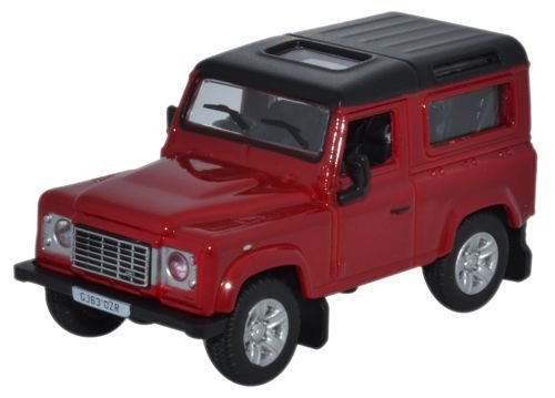Oxford Diecast 1:76 Scale Land Rover Defender 90 Station Wagon Firenze Red -
