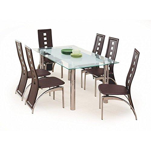JUSThome Bond Esszimmertisch Küchentisch Esstisch aus Glas (LxBxH): 160x90x76 cm