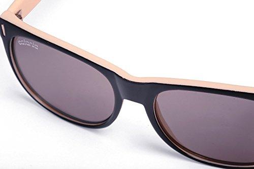 Catania de Sol Hombre de Funda UVB Gafas Mujer para 100 UV400 Mocha Con para y UVA Sol Protección Unisex Occhiali Gafas rPx6tqwr