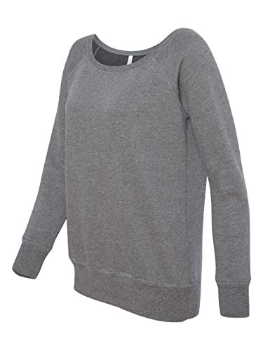 Hooded Pullover Bella (Bella 7501 Womens Sponge Fleece Wide Neck Sweatshirt - Deep Heather, Extra Large)