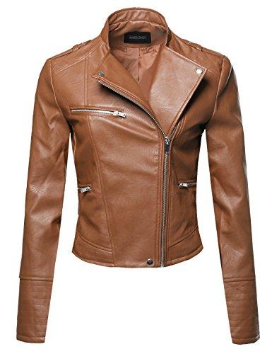 Asymmetrical Leather Jacket - 2