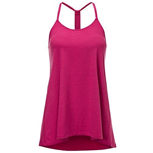 Regna X Women's Scoop Neck Plus Size Comfy Tunic Sleeveless Tank Tops Pink 2XL