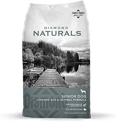 Diamond Naturals Senior Real Meat Recipe Natural Dry Dog Food With Real Cage Free Chicken, 18Lb