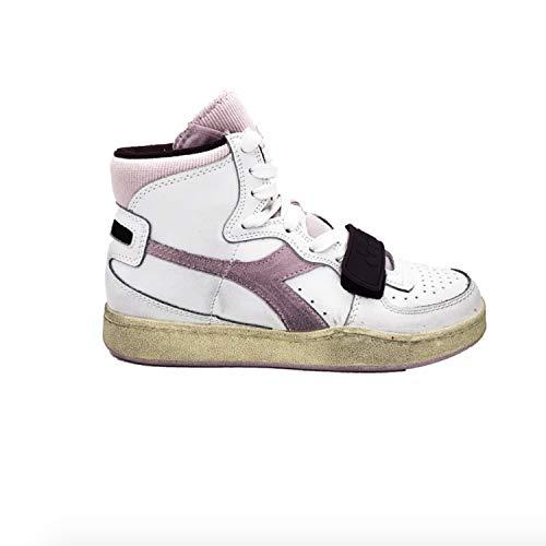 Beige Sneakers c3082 Diadora 37 Rosa Used Bianco Mi Basket 174766 Prugna Bianco OxnfU