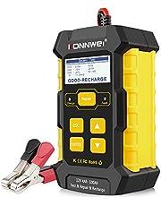 KONNWEI KW510 ładowarka do akumulatora samochodowego, 3 w 1, uniwersalny tester impulsowy, tester impulsowy, 12 V-5 A, automatyczna ładowarka do akumulatora samochodowego, ładowarka podtrzymująca z wyświetlaczem LCD