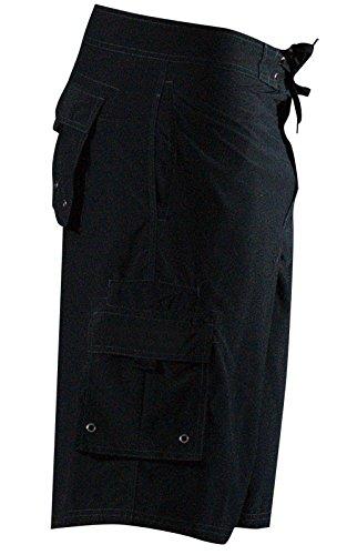 Mojo Traditional Board Shorts (Black, 30)