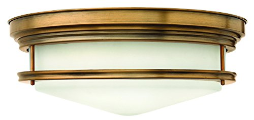 Hinkley 3304BR-LED Restoration One Light Flush Mount from Hadley collection in (Restoration Flushes Collection)