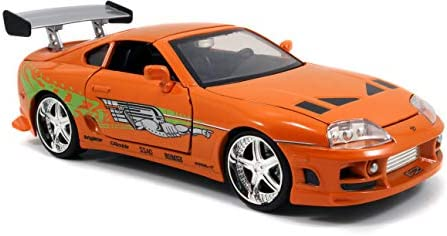 Jada Toys Fast & Furious 1:24 Brian's Toyota Supra Die-cast Car, toys for youngsters and adults, Orange (97168)
