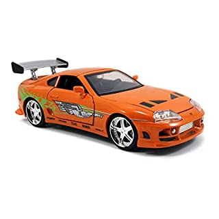 Fast & Furious 1:24 Brian's Toyota Supra Die-cast Car, toys for kids and adults