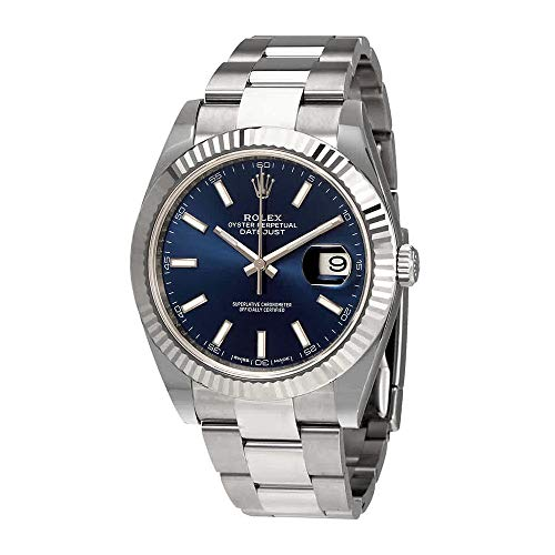 Rolex Oyster Perpetual Datejust 41 Blue Dial Automatic Mens Watch 126334BLSO