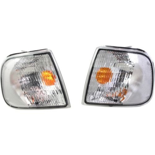 Make Auto Parts Manufacturing - F-150 97-03 CLEAR CORNER LAMP, Chrome, Altezza Style, One Set (RH and LH included) - FD9703CCL01