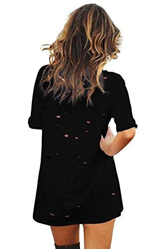 Profondo Collo Difficoltà tm Delle Su Donne Nero Anteriore In Di Bettergirl Mini Maglietta In Trasversale V Abito Pizzo nSAOT1wx8q