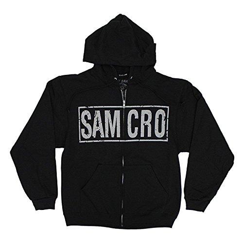 Sons of Anarchy Samcro Boxed Reaper Black Adult Hoodie Hooded Sweatshirt (Adult (Hooded Reaper)