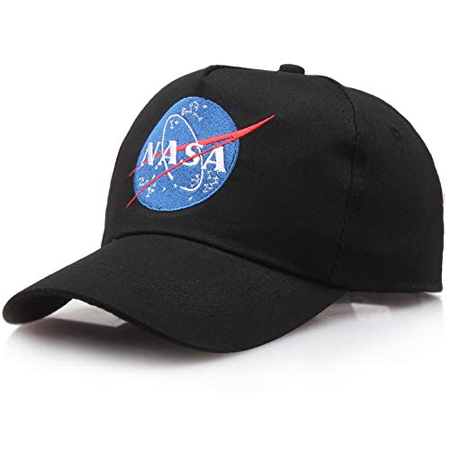 shinyis NASA Insignia Embroidered Baseball Cap Hat Black, 58-60CM