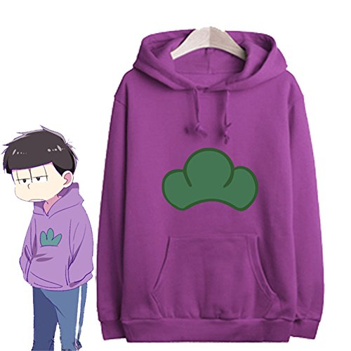 Japanese Manga SIX SAME FACES Konya wa Saikou Mr.Osomatsu San ED Anime Candy Colorful Jacket Hoodie Coat (Asian size L, Purple)