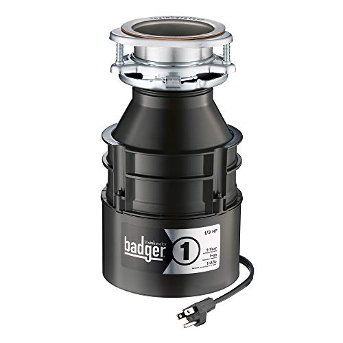 (InSinkErator Garbage Disposal with Cord, Badger 1, 1/3 HP Continuous Feed )