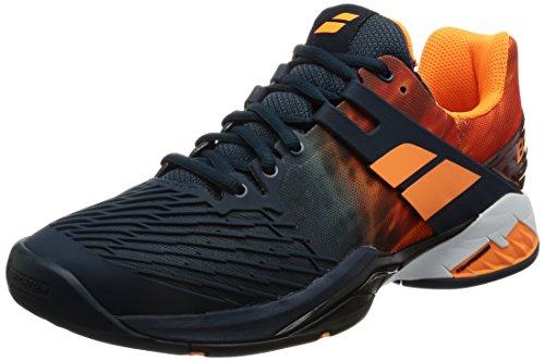 Babolat Propulse Fury All Court, Zapatillas de Tenis para Hombre Varios colores (Gris  /     Naranja)