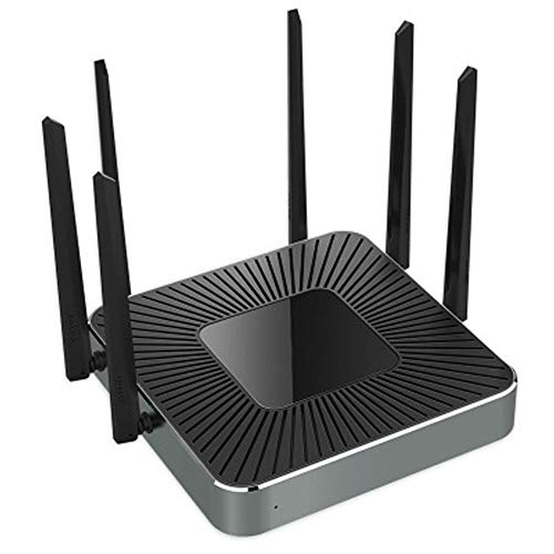 - PXYUAN Enterprise-Specific Wireless Router, Dual-Band 1750M WiFi with 150 Stable Operation, Intelligent Networking with AC Manager, 4 Carrier Access Ports-Black