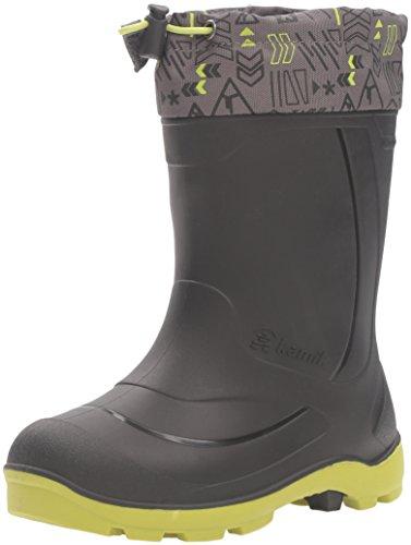 [Kamik Kids' Snobuster2 Snow Boot, Charcoal/Lime, 5 M US Big Kid] (Boys Boots Sale)